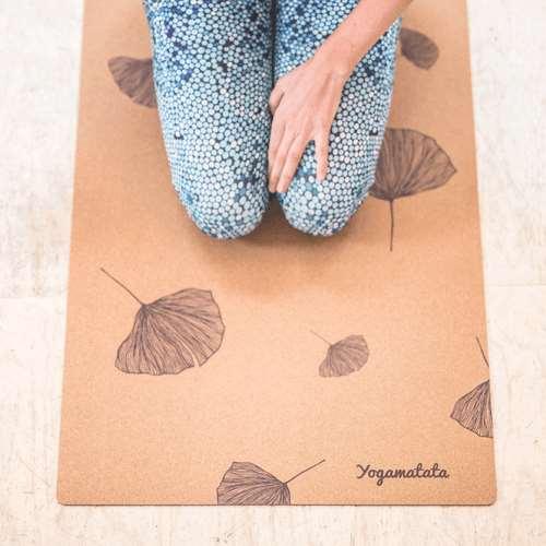 Tapis de yoga en liège Ginkgo