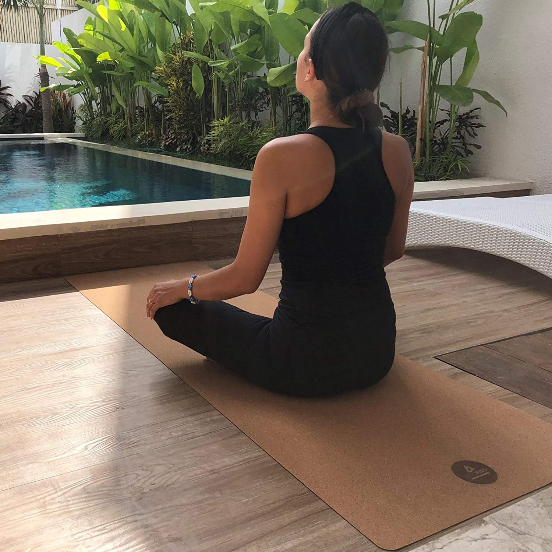 Tapis de yoga en liège Secoroco